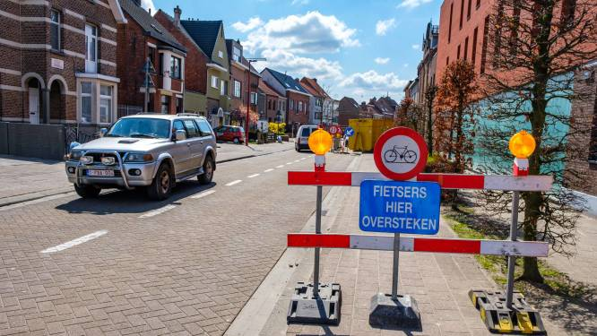 Hinder in Statiestraat door werken