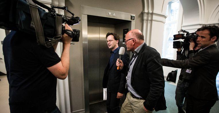 Ronald van Raak voor aanvang van het overleg met het presidium over de Voortman-affaire, 15 april 2020. Beeld Freek van den Bergh/ de Volkskrant