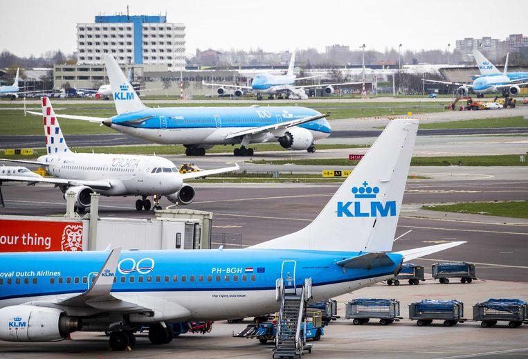 Vliegtuigen op Schiphol Beeld ANP