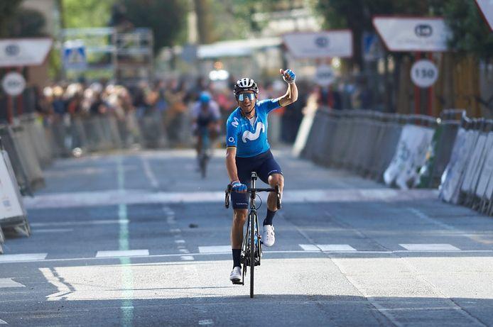 Alejandro Valverde n'avait plus gagné depuis le 30 août 2019, il a retrouvé les joies de la victoire sur les routes du Grand-Prix Miguel Indurain.