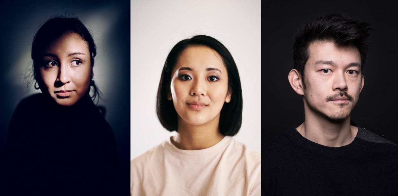 v.l.n.r: Christina De Witte, Joey Kwan en Pete Wu reageren op de gebeurtenissen in Atlanta. Beeld RV