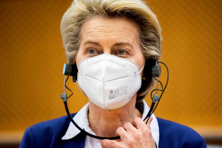 Europees Commissievoorzitter Ursula Von der Leyen. Beeld AP