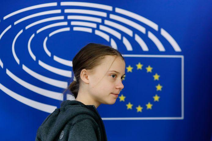 De Zweedse Greta Thunberg is deze week in Brussel.