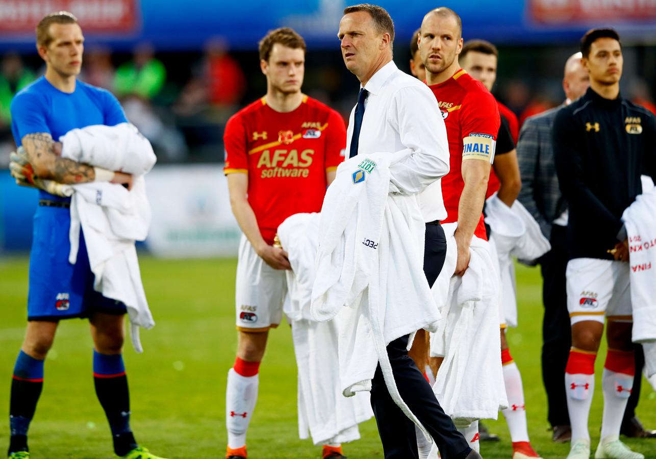 John van den Brom na de verloren bekerfinale tegen Feyenoord.