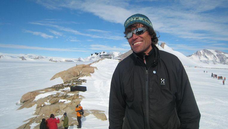 Alain Hubert op de Zuidpool. Beeld AFP