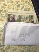 Arnd Focke ontving deze brief met zijn hoofd als doelwit.