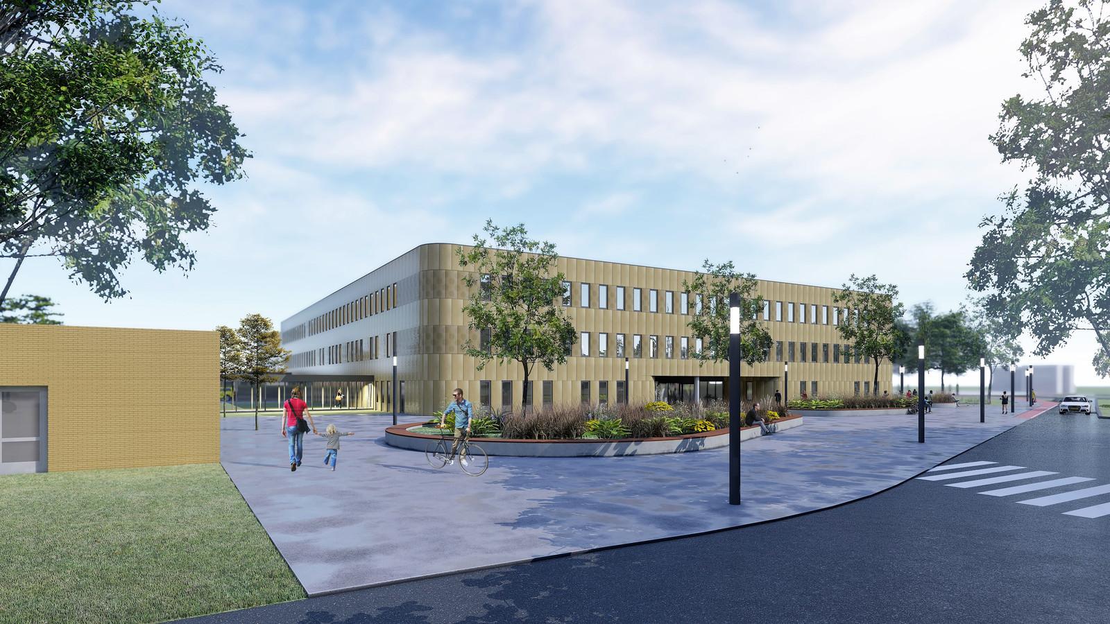 Het ontwerp van het Medisch Centrum Vechtdal dat nu in Hardenberg gebouwd wordt.