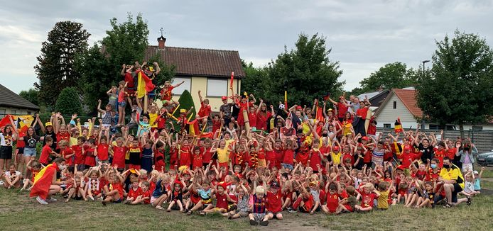Aan basisschool De Brug in Sint-Job-in-'t-Goor zal het niet gelegen hebben als de Rode Duivels niet winnen.