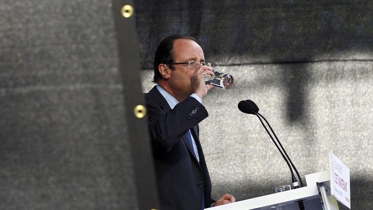 De socialistische presidentskandidaat François Hollande, donderdag. Beeld ap