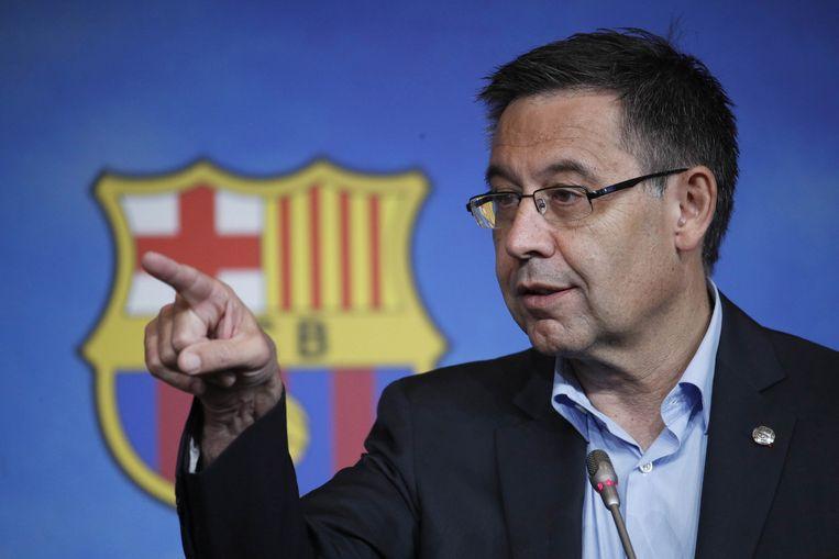 Voormalig president Josep Maria Bartomeu van FC Barcelona.  Beeld EPA