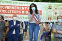 Audrey Pulvar lors de la manifestation des agriculteurs bio à Paris le 2 juin 2021.