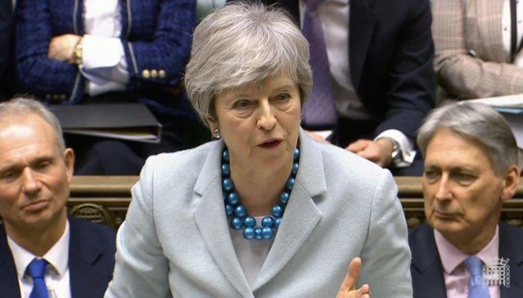 Voorlopig komt er geen derde stemming over de brexitdeal van Theresa May. Beeld EPA