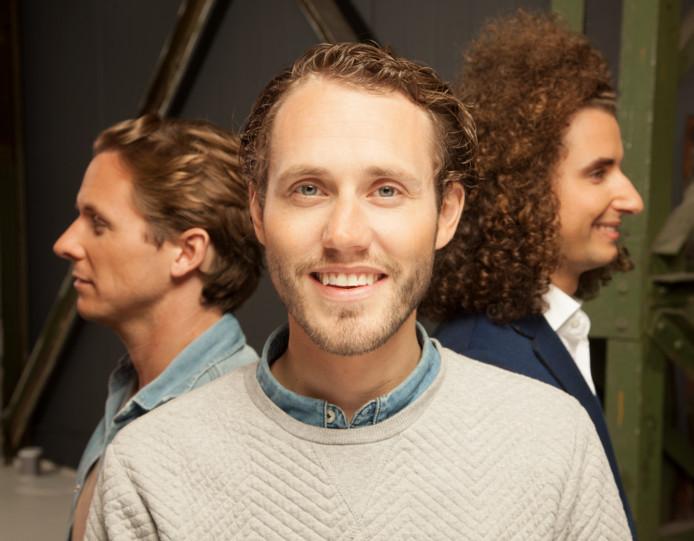 Oprichter Laurent Scholten met zijn compagnons Lars Wetemans (links) en Philo Hermans (rechts).