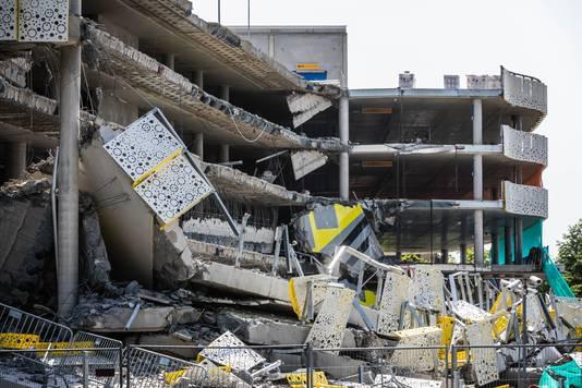 De ingestorte parkeergarage in Eindhoven.