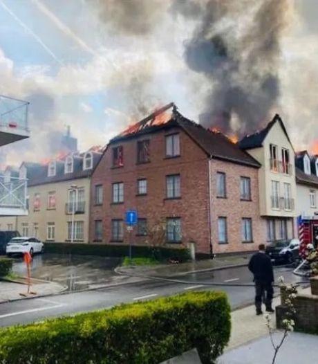 Violent incendie dans un immeuble à Opwijk