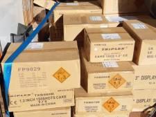 Politie neemt ruim 700 kilo illegaal vuurwerk in beslag bij controle in Overijssel
