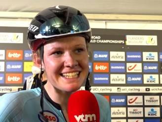 """Jolien D'Hoore na laatste wedstrijd op Belgische wegen: """"Het was best een emotionele dag"""""""