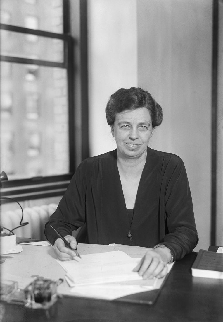 Eleanor Roosevelt, in 1928 in New York.  Beeld Bettmann Archive