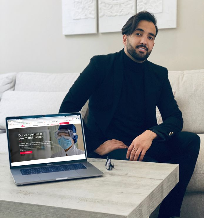 Mechelaar Bilal Zouggaghi en zijn bedrijf Klikzo zijn een geldinzameling gestart voor de aankoop van mondmaskers voor de zorgsector.