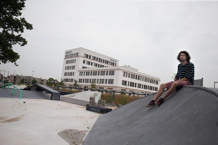 Arnoud Lievers is tevreden met de skatebaan.