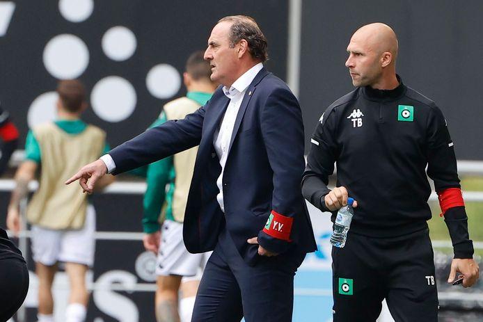 Yves Vanderhaeghe et Thomas Buffel sur le banc du Cercle à Gand, le 26 septembre dernier.