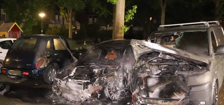 Auto's verwoest door brand in Veenendaal