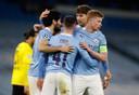 Manchester City deed in de eerste kwartfinale tegen Borussia Dortmund goede zaken. In het Etihad Stadium won het met 2-1.