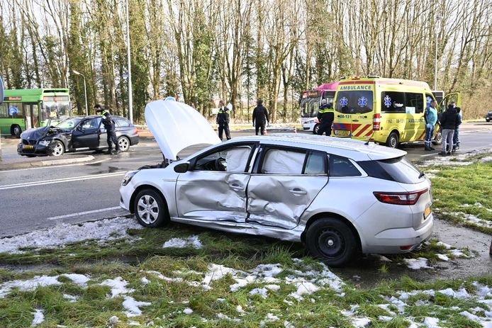 Ongeluk op de Ubberseweg.