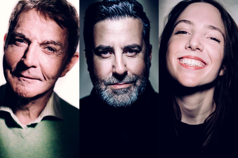 Luc Appermont, Dyab Abou Jahjah en Michèle Cuvelier. Beeld Stefaan Temmerman
