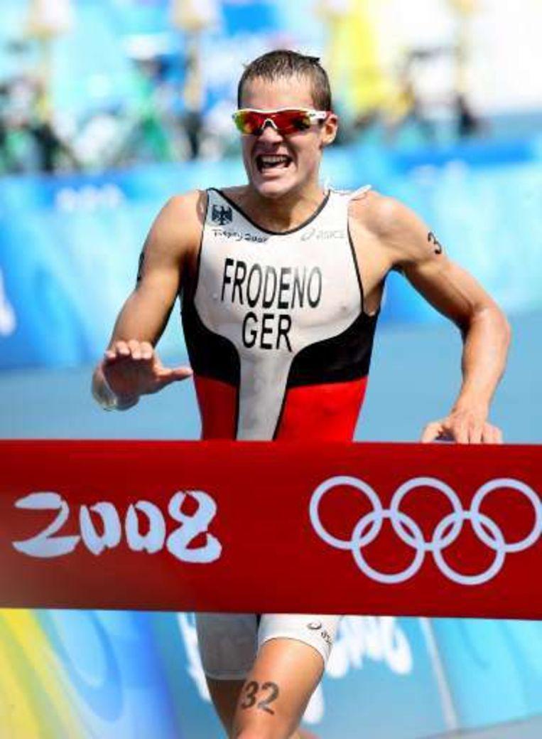 De Duitser Jan Frodeno ging met het goud aan de haal. Beeld UNKNOWN