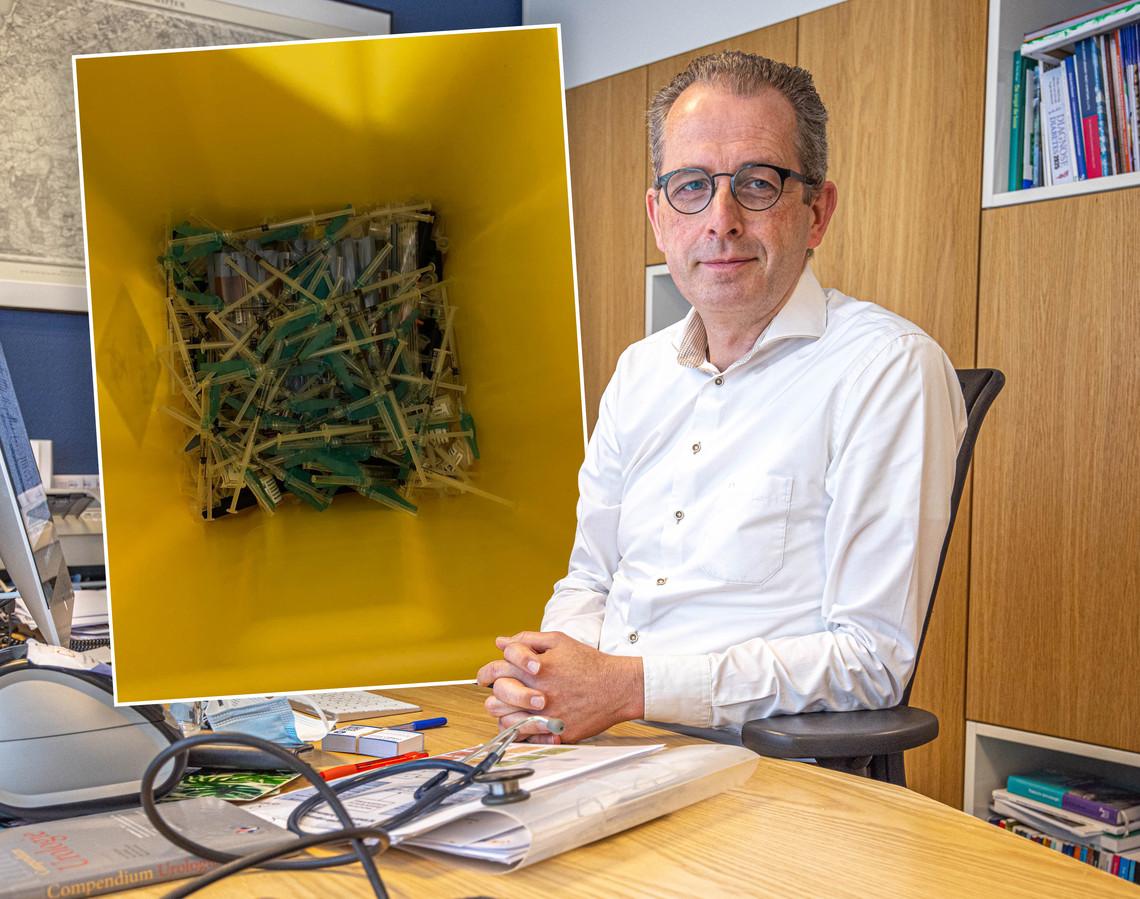 Geen vaccins meer in de prullenbak, is de gedachte van huisarts Marco Blanker en de andere initiatiefnemers van de website prullenbakvaccin.nl
