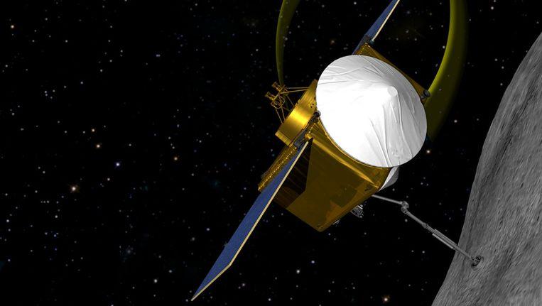 Impressie van het ruimteschip Osiris-Rex. Beeld ap