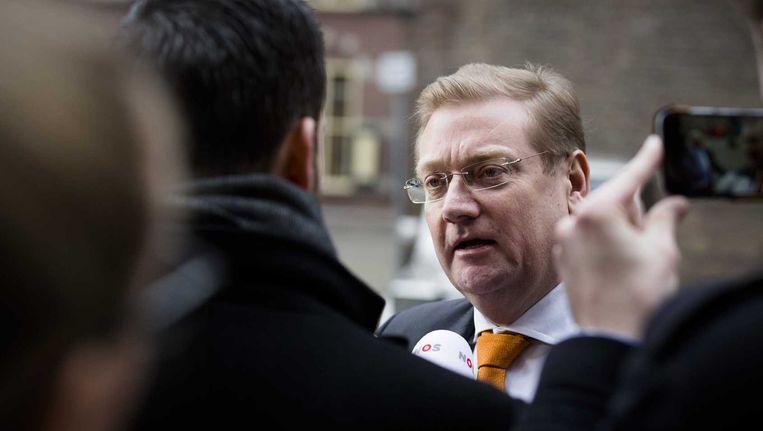 Minister Van der Steur op het Binnenhof. Beeld anp