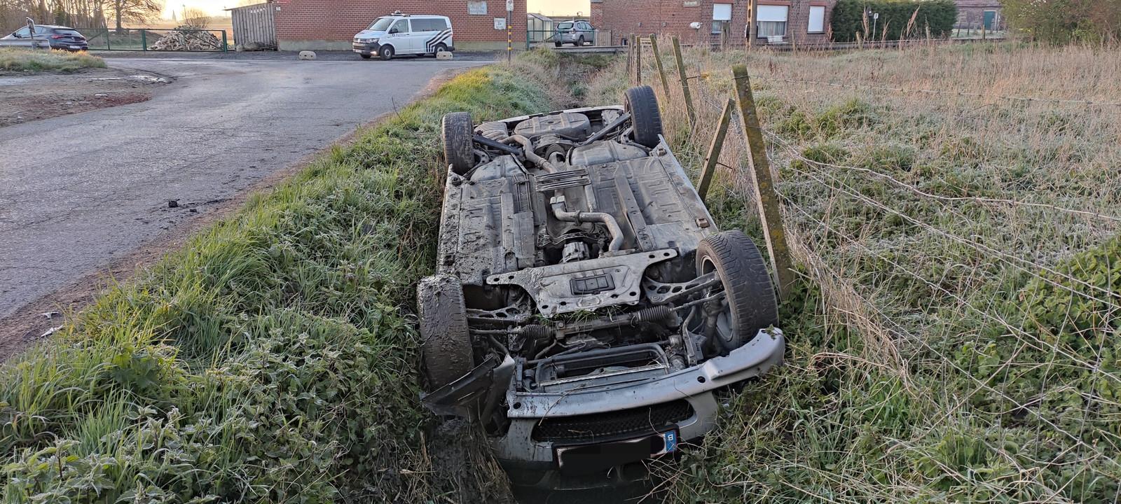 Het ongeval gebeurde in de Zwartestraat in Elverdinge.