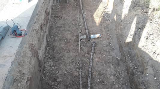 De kabelbreuk is waarschijnlijk door grondwerking ontstaan.