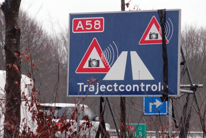 Trajectcontrole A58.