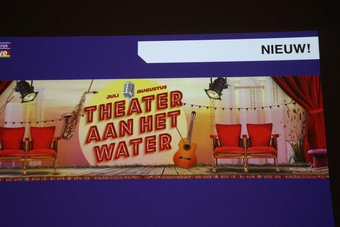 Tijdens de persbijeenkomst was er het nieuwtje: De Blauwe Kei, Theater Aan het Water.