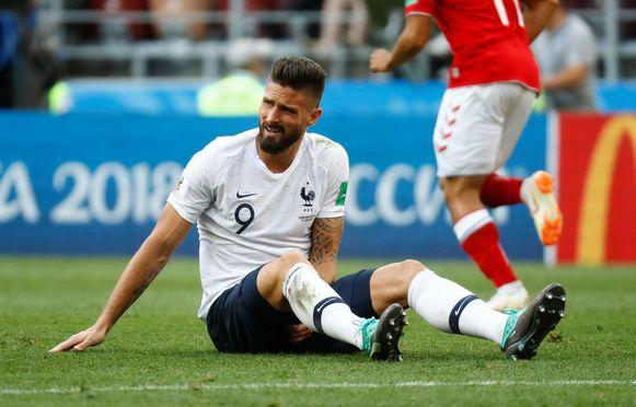 Giroud kon weer niet overtuigen met Frankrijk.