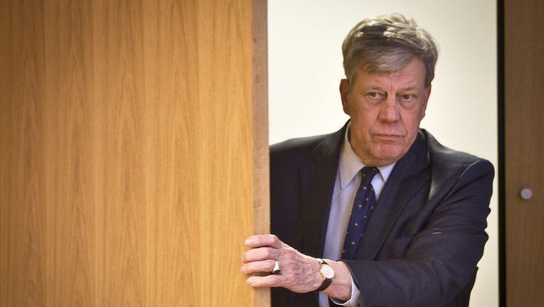 Minister Ivo Opstelten voordat hij zijn aftreden aankondigt Beeld anp