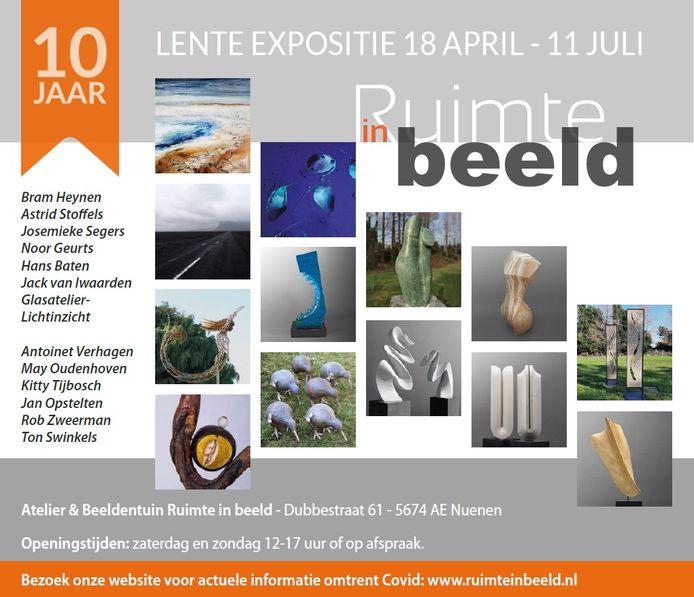 Affiche van de nieuwe tentoonstelling bij Ruimte in beeld in Nuenen.