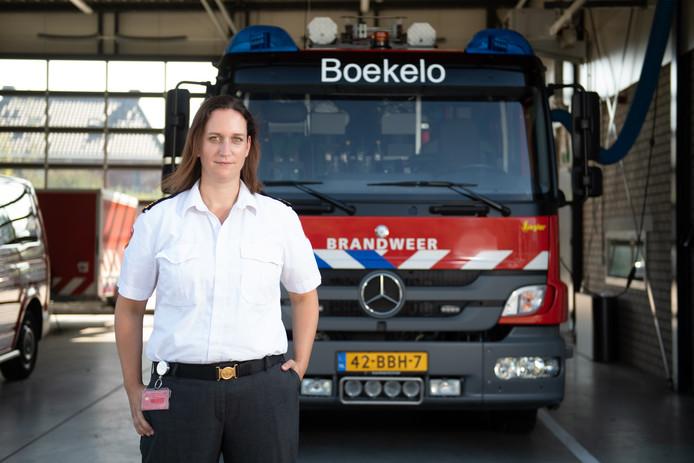 Karin Groenewegen van Brandweer kazerne Boekelo.