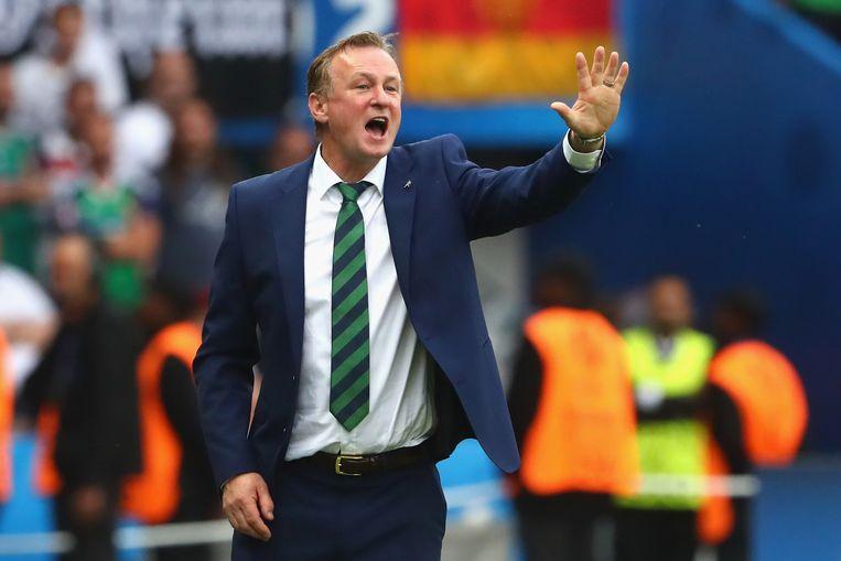 Noord-Iers bondscoach Michael O'Neill toonde natuurlijk begrip voor de situatie van zijn speler. Beeld Getty Images