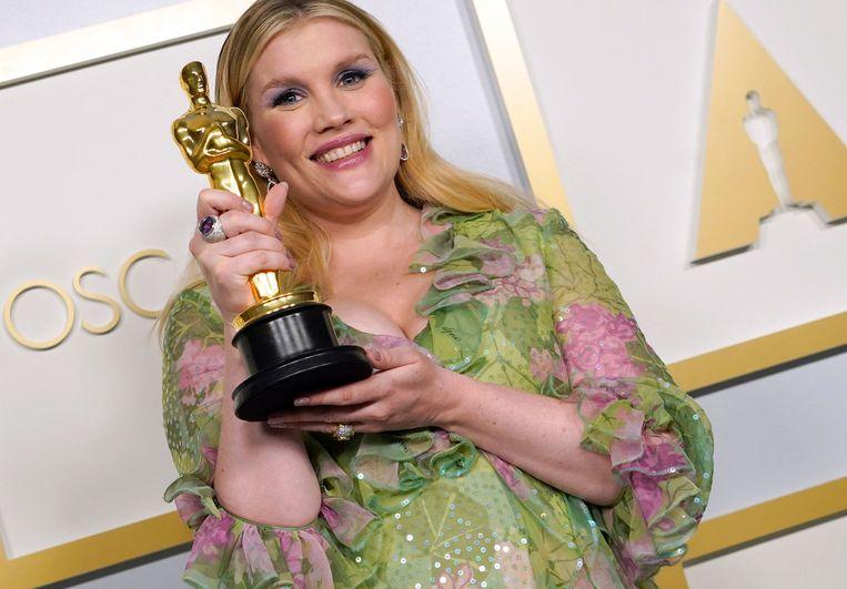 Emerald Fennell won een Oscar voor Beste scenario. Beeld AFP