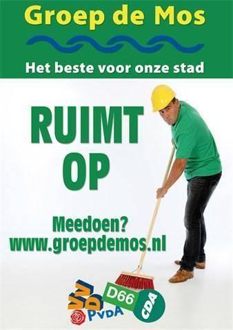 Poster voor Groep De Mos.