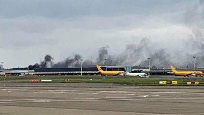 Container schiet in brand op cargo Brussels Airport