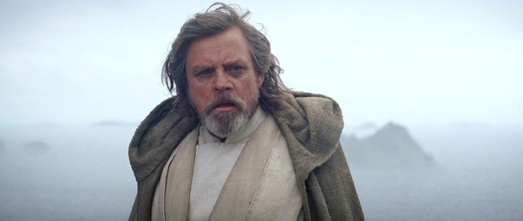 Mark Hamill in Star Wars: The Force Awakens. Beeld