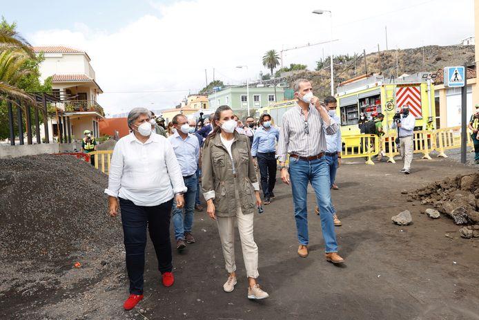 Koning Felipe en zijn vrouw Letizia bezochten vandaag het rampgebied.