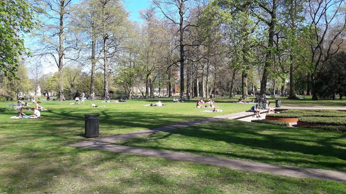 Park Valkenberg op archiefbeeld. Foto van april 2020.