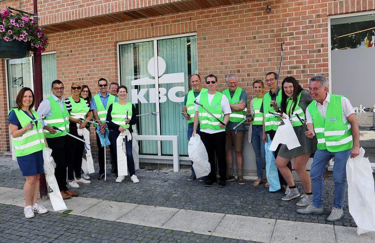 Werknemers van KBC, het OCMW en de stad