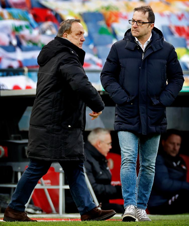 Zeljko Petrovic met zijn vriend Dick Advocaat.